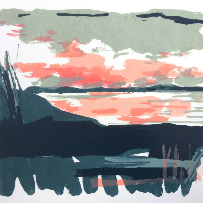 Rachel Gracey ARE, 'South South-West 9', lithograph