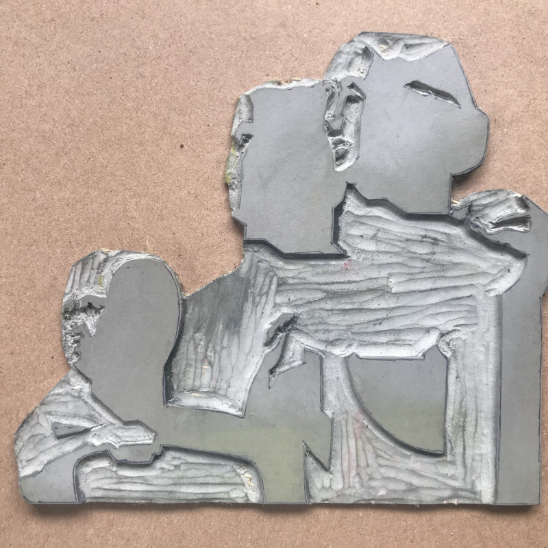linocut section of Henry Moore sculpture image