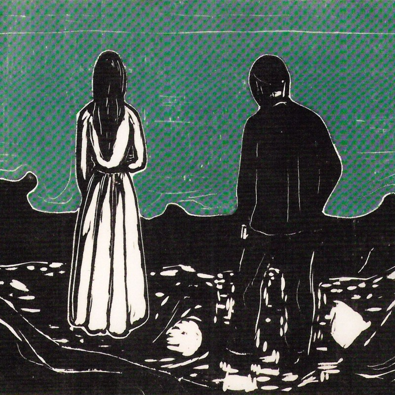 Edvard Munch - Two Human Beings. The Lonely Ones, 1899