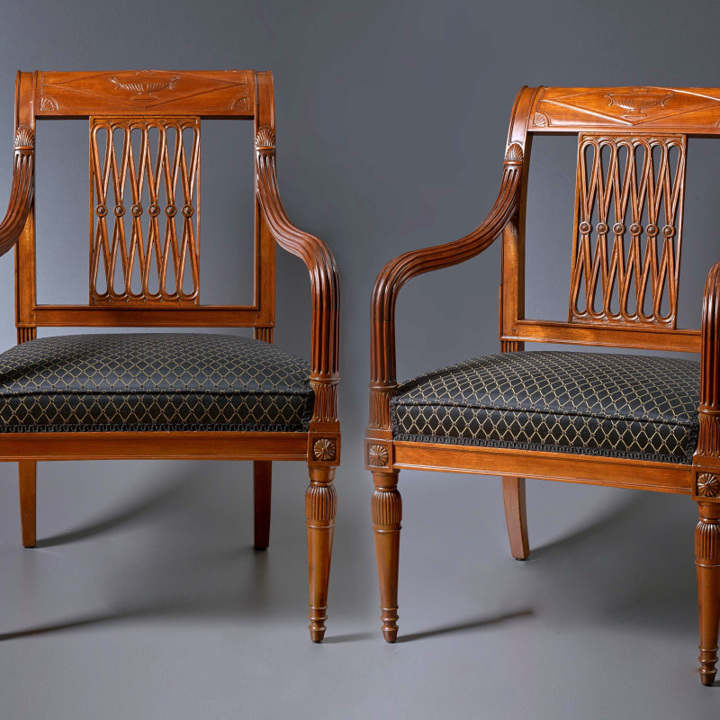 Georges Jacob - A set of four late 18th Century fauteuils