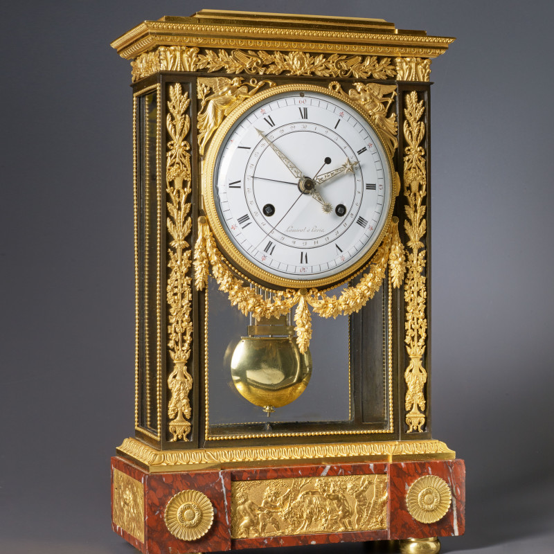 Lamiral - A Directoire table regulator of at least two weeks duration by Lamiral, Paris, date circa 1795