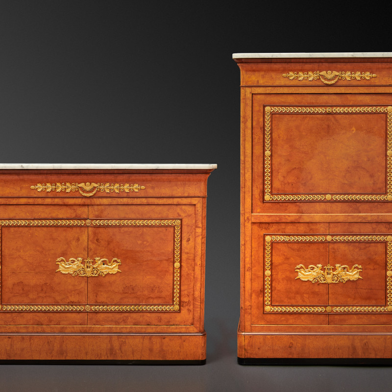Jacob-Desmalter et Cie (attributed to), An Empire secrétaire à abattant and matching commode attributed to Jacob-Desmalter et Cie, Paris, date...