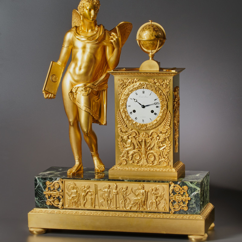 Picnot Père - An Empire figural clock, by Picnot Père, Paris, date 1805-10