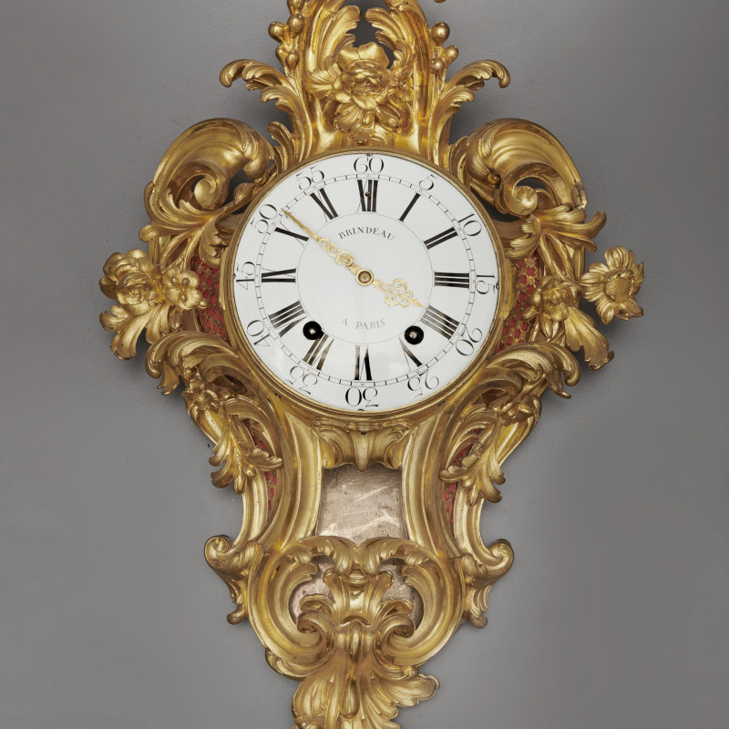 Nicolas Brindeau - A Louis XV cartel clock of fourteen day duration, by Brindeau à Paris, case by the Robert Osmond, Paris, date circa 1760