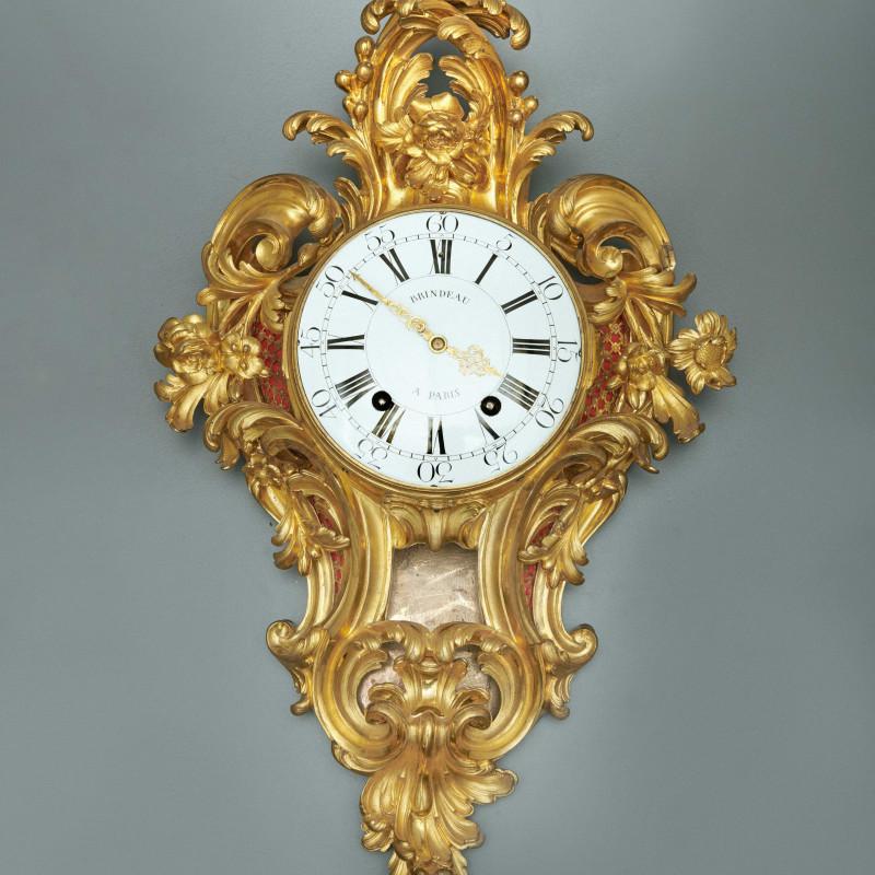 Nicolas Brindeau - A Louis XV cartel clock of fourteen day duration, by Brindeau à Paris, case by the Robert Osmond, Paris, date circa 1760