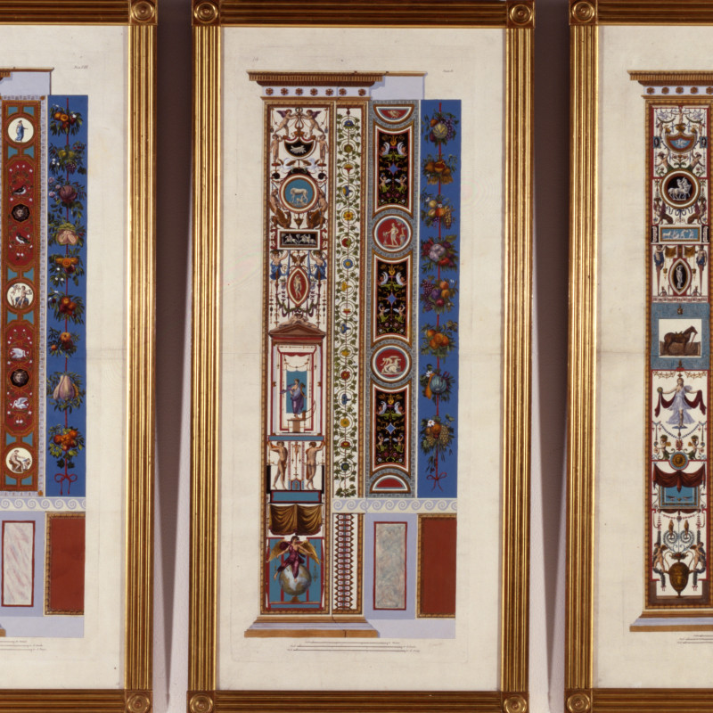 Giovanni Ottaviani - 6 Decorative panels from