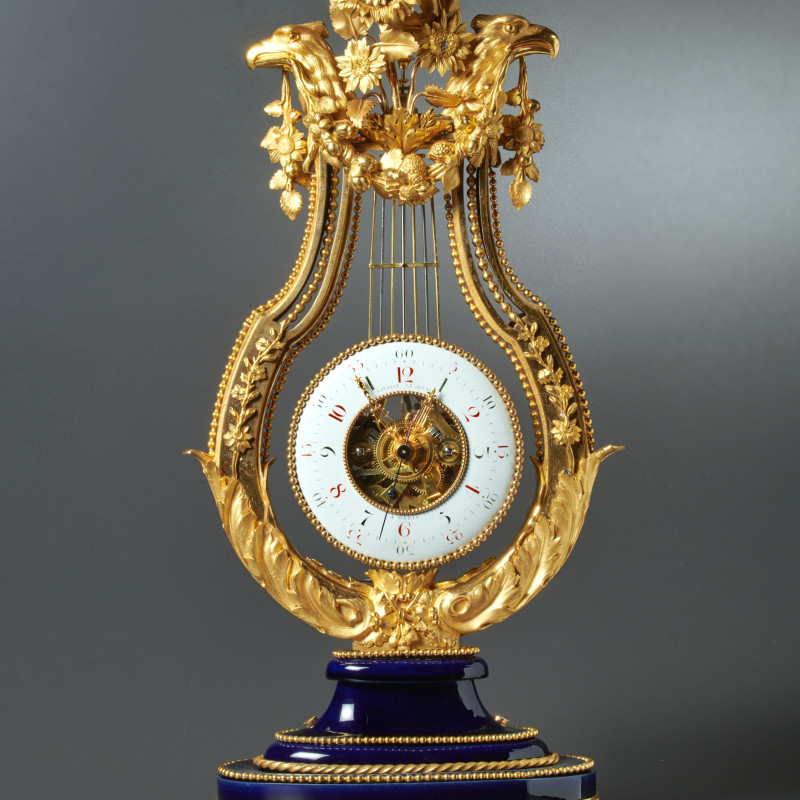 Gavelle Le Jeune - A Louis XVI skeletonised lyre clock by Gavelle Le Jeune, Paris, date circa 1780-85