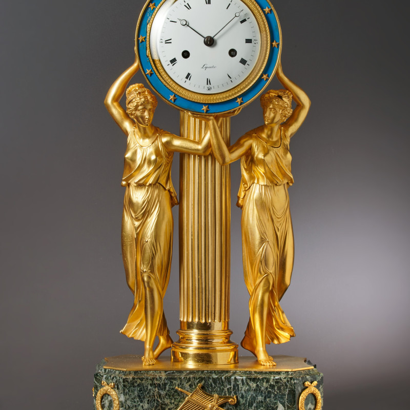 Lepaute Oncle & Nevue - An Empire gilt bronze figural clock by Lepaute, Paris, date circa 1810