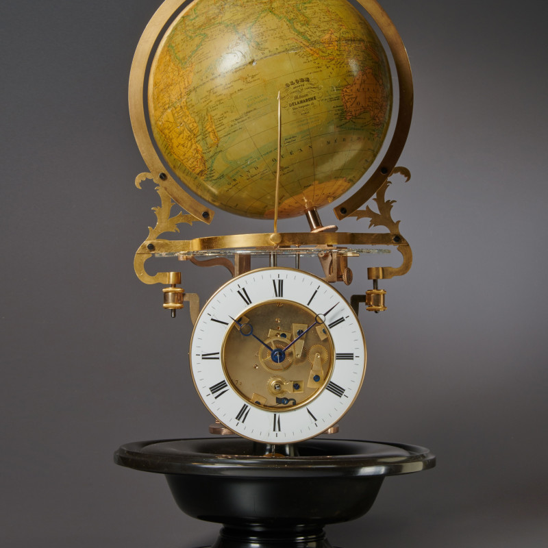 Louis-Jérôme-Napoléon Mouret - A nineteenth century French pendule cosmographique with equation of time of eight day duration by Mouret à Paris, Paris, date circa 1876