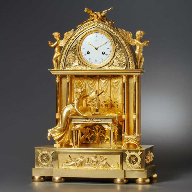 Claude Galle - An Empire clock by Claude Galle, Paris, date circa 1815