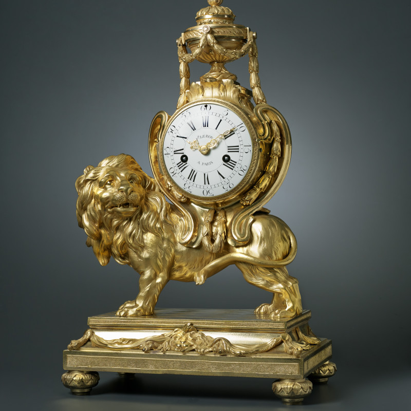 Pierre III Le Roy - A Louis XVI pendule 'au lion' of eight day duration by Pierre III Le Roy, housed in a case attributed to François Vion, Paris, date circa 1770