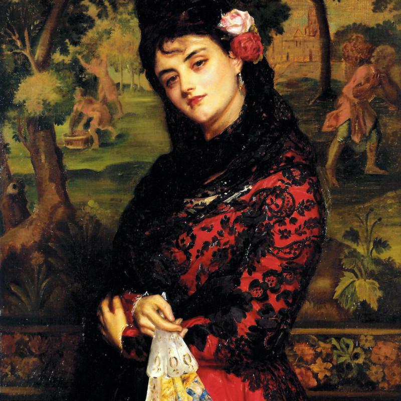 """John Bagnold Burgess - """"La Senorita"""" by John Bangold Burgess, London, 1876"""