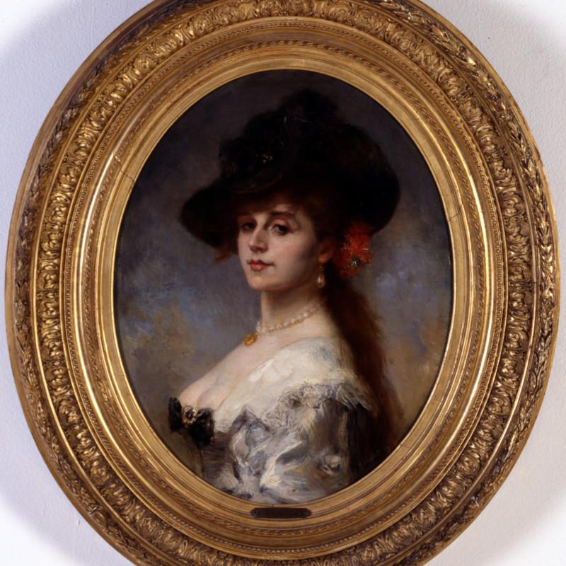 "Jacques Charles Ferdinand Humbert - ""La Dame au coffret"" by Jacques Charles Ferdinand Humbert, Paris, dated 1882"