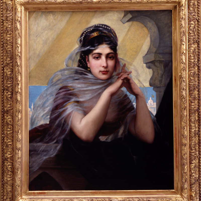 """Charles Jean Auguste Escudier - """"Harem Beauty"""" by Charles Jean Auguste Escudier, 1873"""