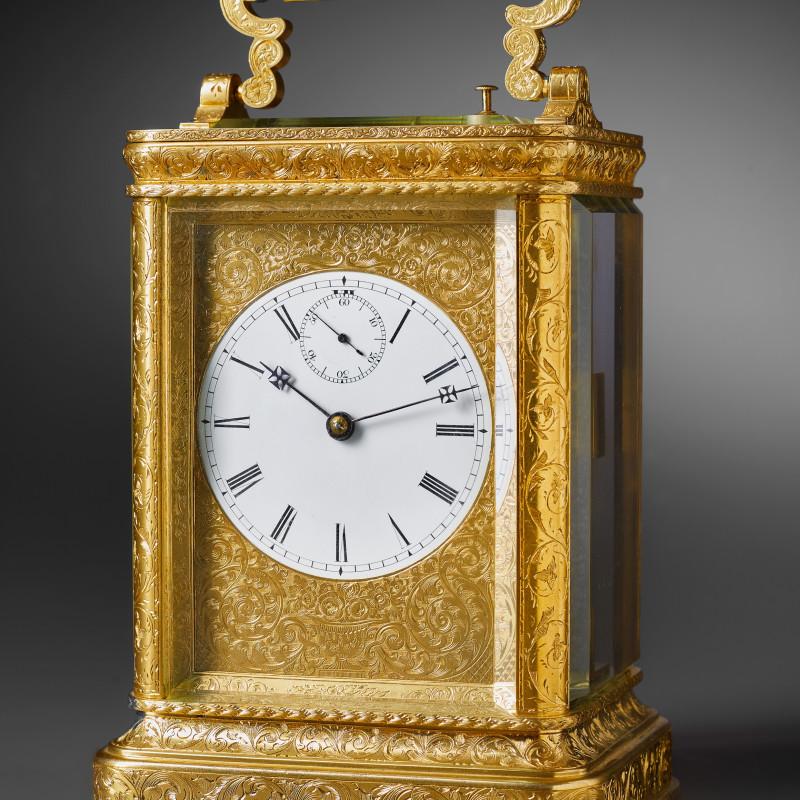 John Barwise - A striking carriage clock by John Barwise, London, date circa 1840