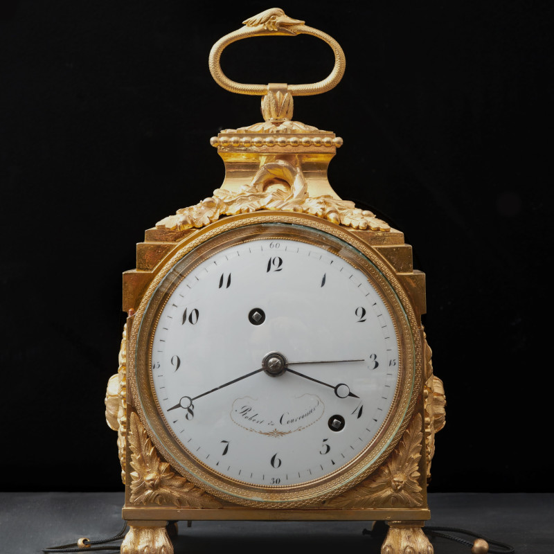 Robert & Couvoisier - A Directoire Grande and Petite Sonnerie Pendule d'Officier by Robert & Courvoisier, La Chaux de Fonds, date circa 1800