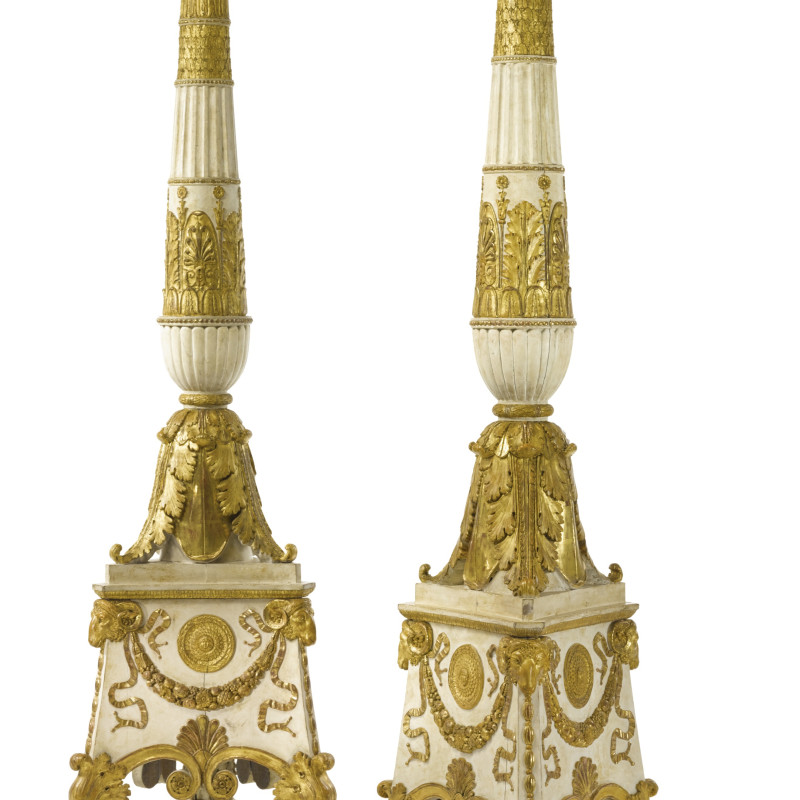 Charles Percier and Pierre François-Léonard Fontaine (after) - A pair of large Empire torchères, after a design of Charles Percier and Pierre François-Léonard Fontaine, Paris, date circa 1810