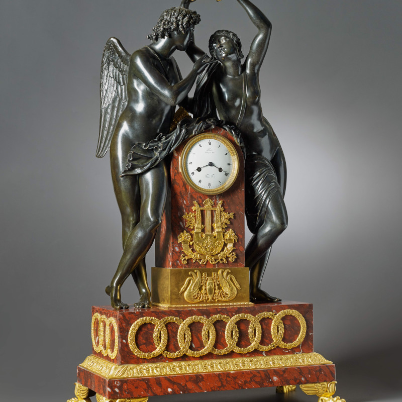 Claude Hémon - An Empire figural clock by Claude Hémon, Paris, date circa 1815-20