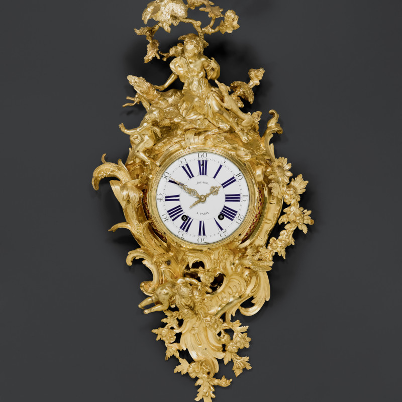 Louis Jouard - A large Louis XV figural cartel clock by Louis Jouard, case by Jean-Joseph de Saint-Germain, Paris, date circa 1745