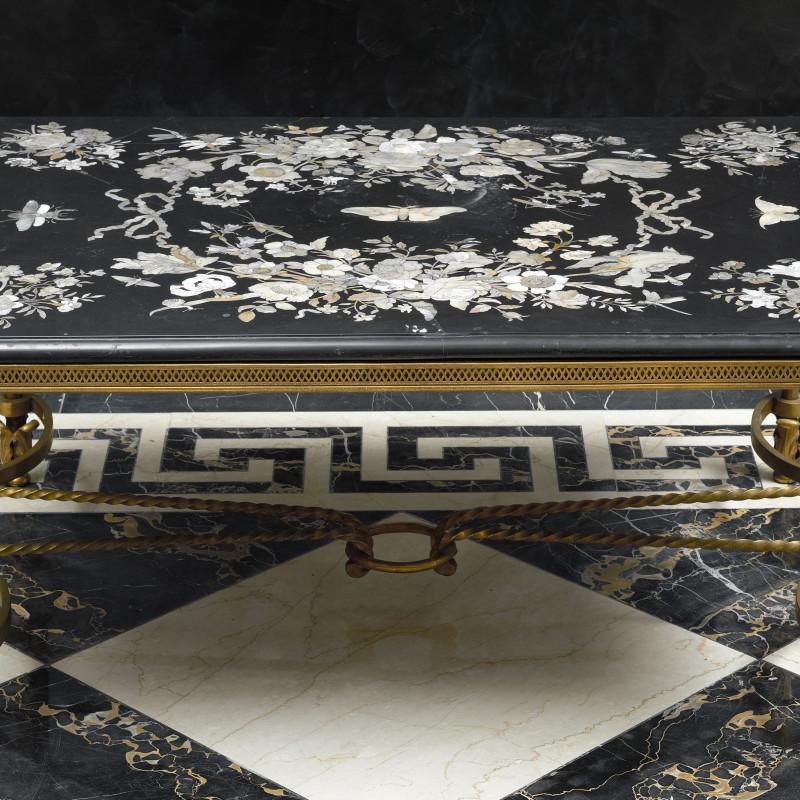 Franz de Hamilton - A German late seventeenth century table top by Franz de Hamilton, base French, Germany, date 1680-1700, base date circa 1940-50 circa 1680-1700. The base: France, date circa 1940-50