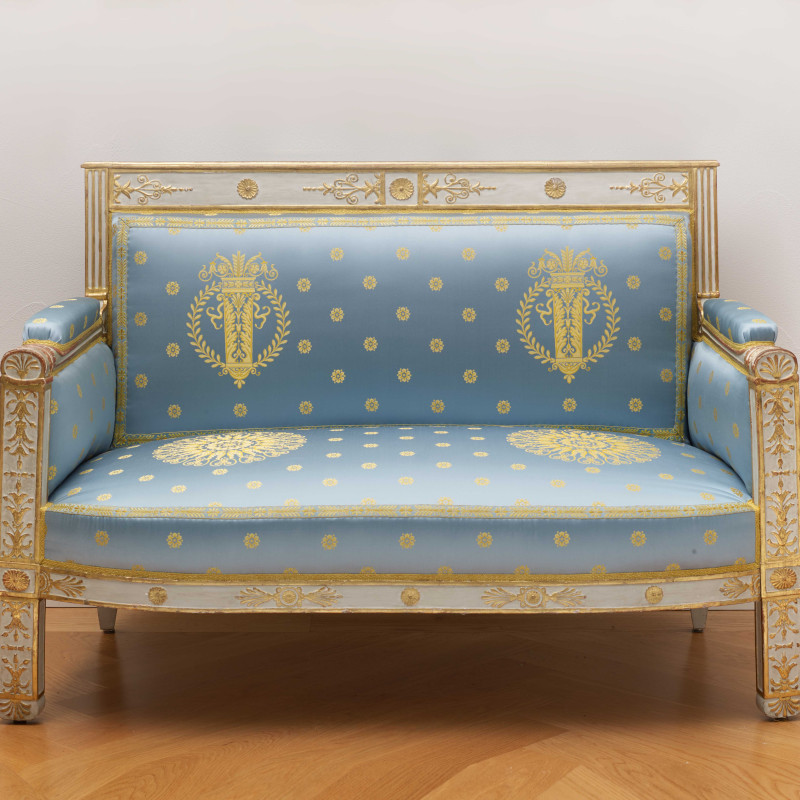 Pierre-Gaston Brion (attributed to) - A set of Empire furniture comprising a canapé, two fauteuils and two side chairs attributed to Pierre-Gaston Brion, Paris, date circa 1809