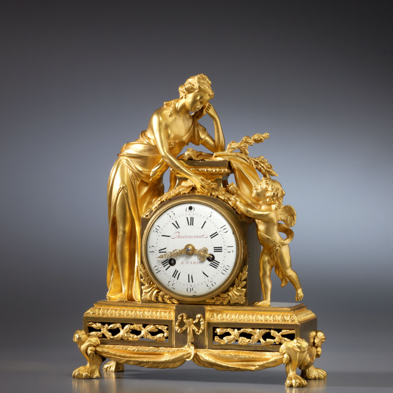 Barancourt - A Louis XVI mantel clock by Barancourt, Paris, date circa 1775