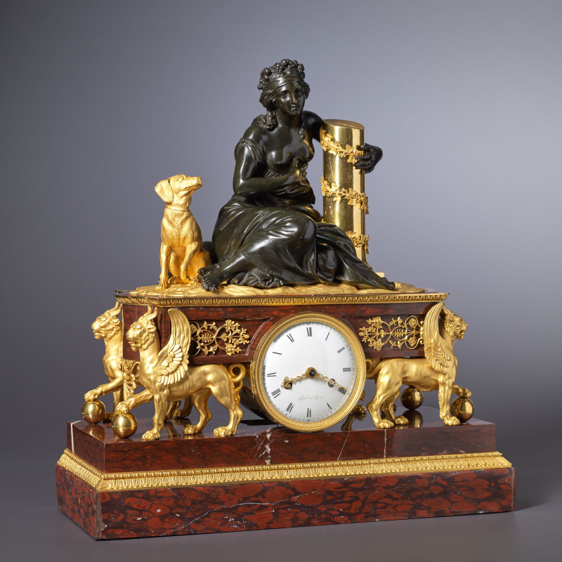 Levol - An Empire mantel clock by Levol and housed in a case attributed to either Pierre-Philippe Thomire or André-Antoine Ravrio, Paris, date circa 1810