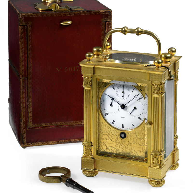 Breguet Neveu Compagnie - A large grande and petite sonnerie striking carriage clock by Breguet Neveu Compagnie à Paris, Paris, made 1831-32