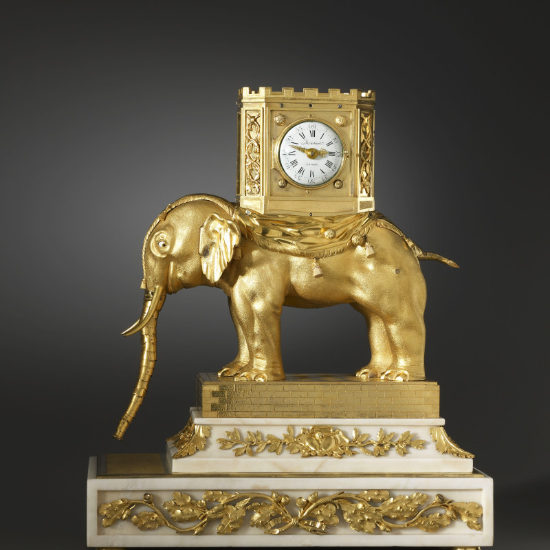 Hubert Martinet, A very important George III automaton elephant clock by Hubert Martinet, London, date circa 1770