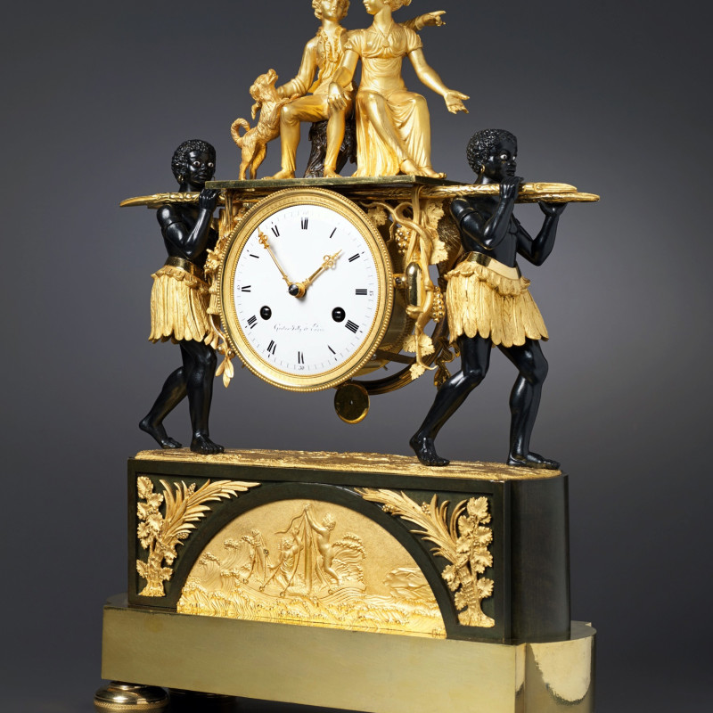 Pierre-Francois-Gaston Jolly - An Empire mantel clock of eight day duration by Pierre-Francois-Gaston Jolly, Paris, date circa 1800-05