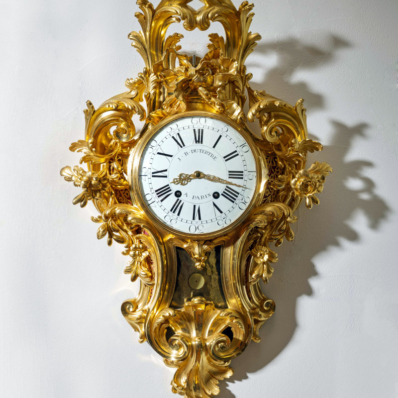 Jean-Baptiste II Dutertre - A Louis XV cartel clock of month duration by Jean-Baptiste II Dutertre , Paris, date circa 1755-60