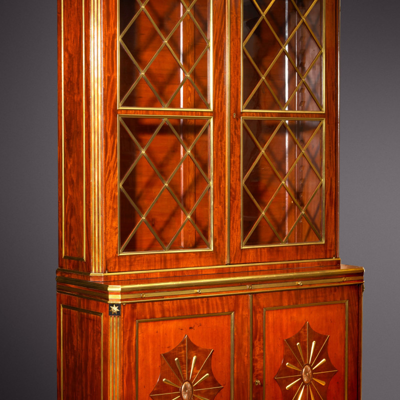 Christian Meyer (attributed to) - A late eighteenth century Russian Jacob Style bureau bookcase attributed to Christian Meyer, Saint Petersburg, date circa 1790-1800