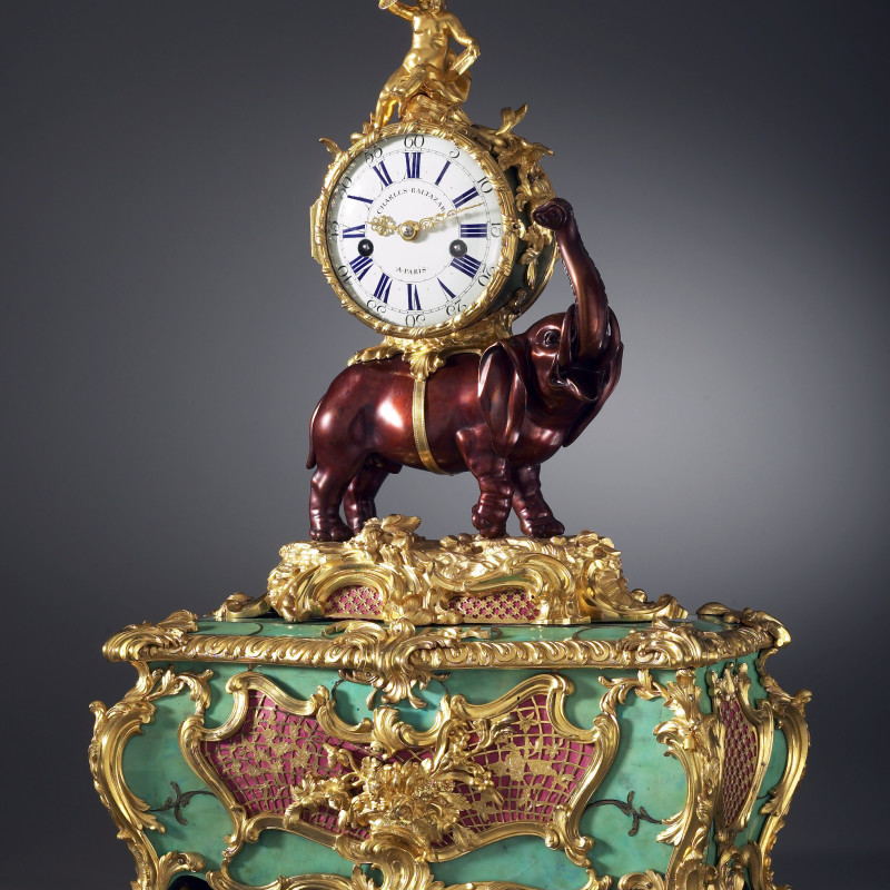 Charles Baltazar - A Louis XV Pendule 'À L'Éléphant' with music box, by Charles Baltazar à Paris, Paris, dated 1747