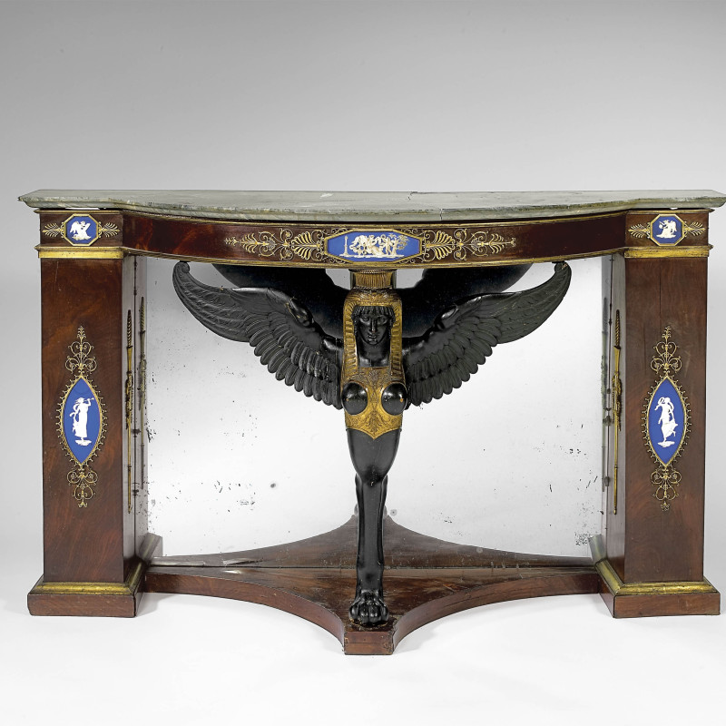 Eloi Lignereux (attributed to) - An Empire console, attributed to Martin Eloi Lignereux, Adam Weisweiler and Pierre-Philippe Thomire, Paris, date circa 1795-1800