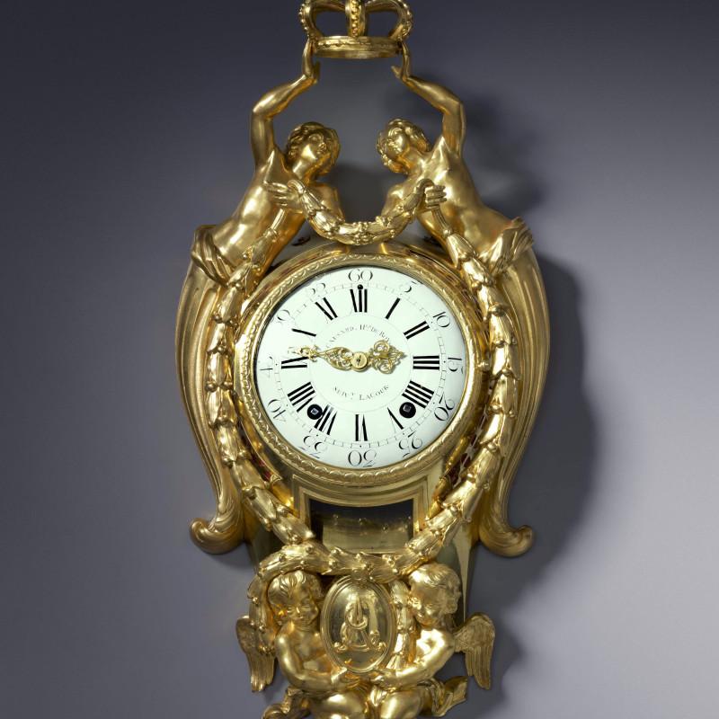 Edmé-Jean Causard - A Louis XVI cartel clock, by Causard Hgr du Roy, Suivt Lacour, Paris, date circa 1775