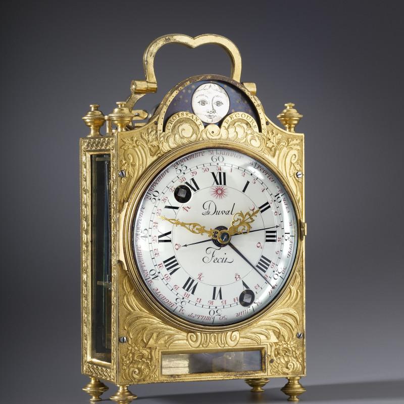 Frédéric Duval - A Louis XVI travelling clock, by Frédéric Duval, Paris, date circa 1775