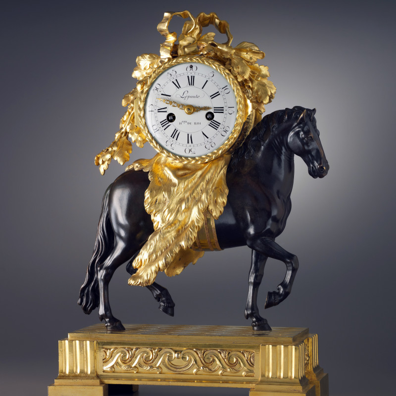 Lepaute, A Louis XVI pendule 'Au Cheval' by Lepaute, the case attributed to Fançois Vion, Paris, date circa 1780