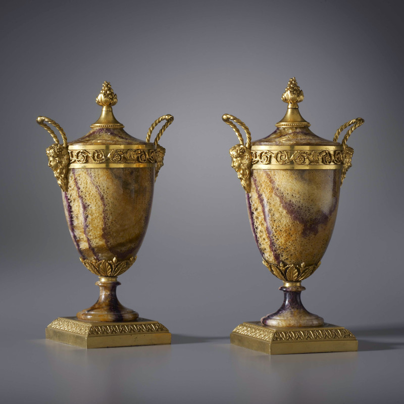 Matthew Boulton (attributed to) - A pair of Georgian covered vases attributed to Matthew Boulton, Birmingham, date circa 1780