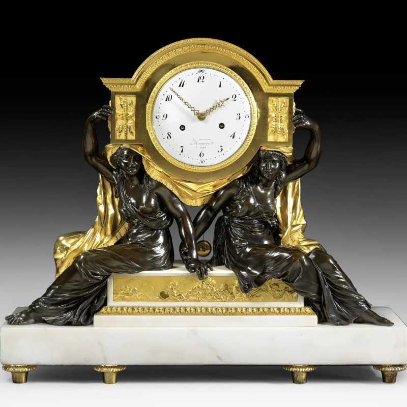 Charles-Guillaume Manière - A late Louis XVI mantel clock movement by Charles-Guillaume Manière, the case attributed to François Rémond, Paris, date circa 1785-90