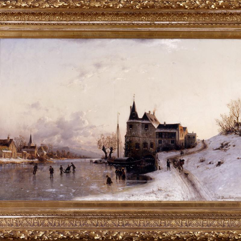 """Johannes Bartholomäus Duntze (1823-1895) - """"Winter Afternoon"""" by Johannes Bartholomäus Duntze, 1880"""