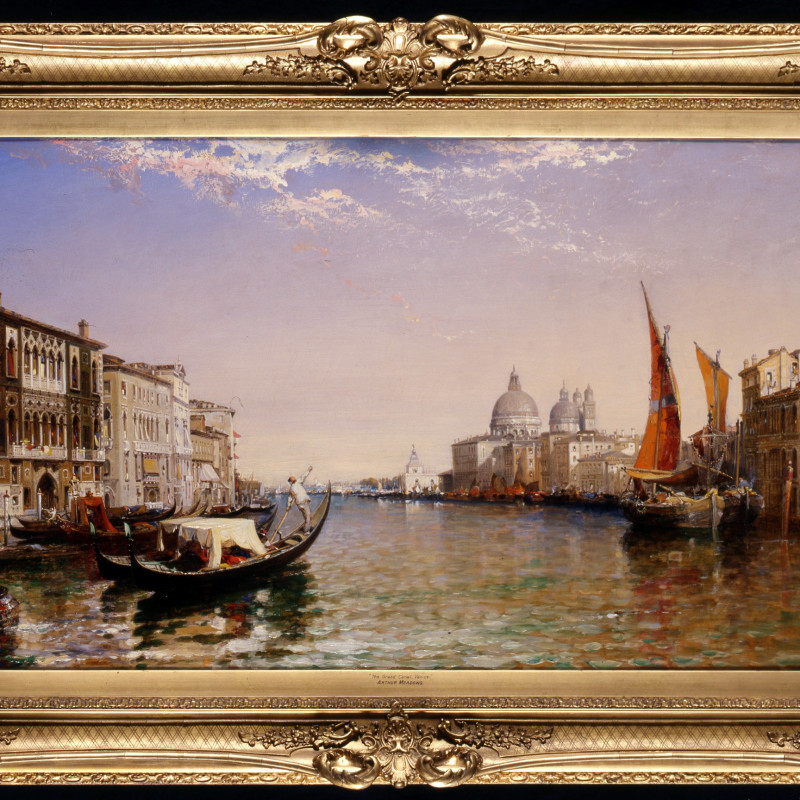 "Arthur Joseph Meadows (1843-1907) - ""The Grand Canal, Venice"" by Arthur Joseph Meadows, 1897"