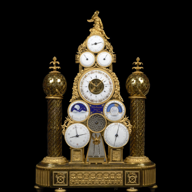 François -Joseph Hartmann - A Republican multi-dial automata clock conceived and made by François -Joseph Hartmann , Paris, dated between 22nd September 1799 and 21st September 1800
