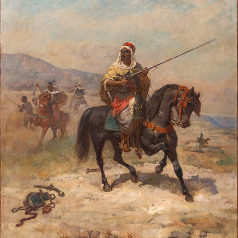 "Georges Washington (1827-1901), ""The Moroccan Warrior"" by Georges Washington"