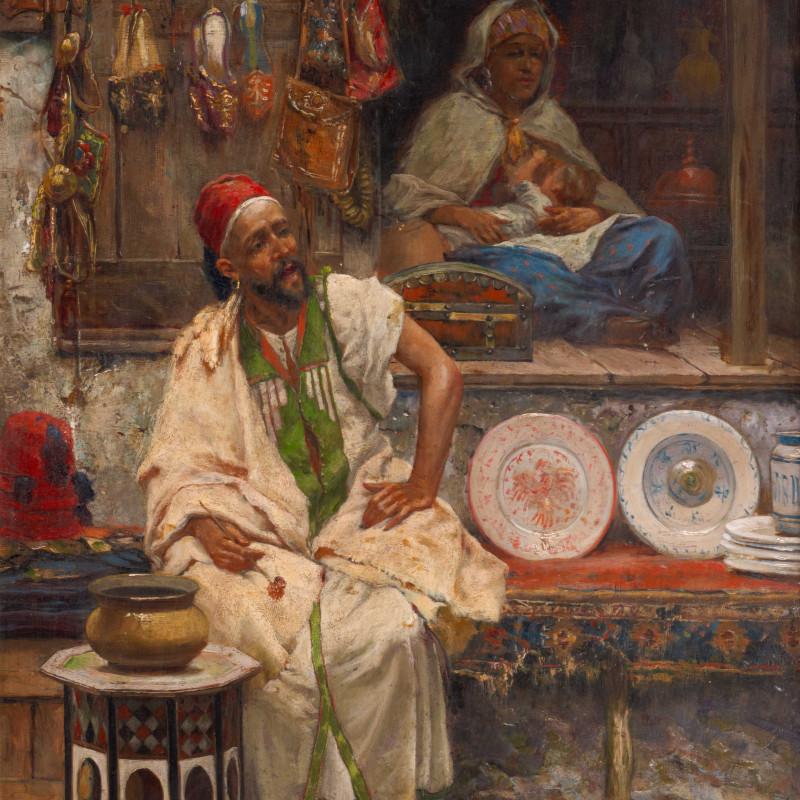 """José Echena (1844-1912) - """"An Oriental Bazaar"""" by José Echena"""
