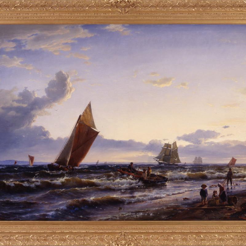"Carl Frederik Sorensen - ""Beach at Hornbaek, Early Morning"" by Carl Frederick Sorensen, 1858"