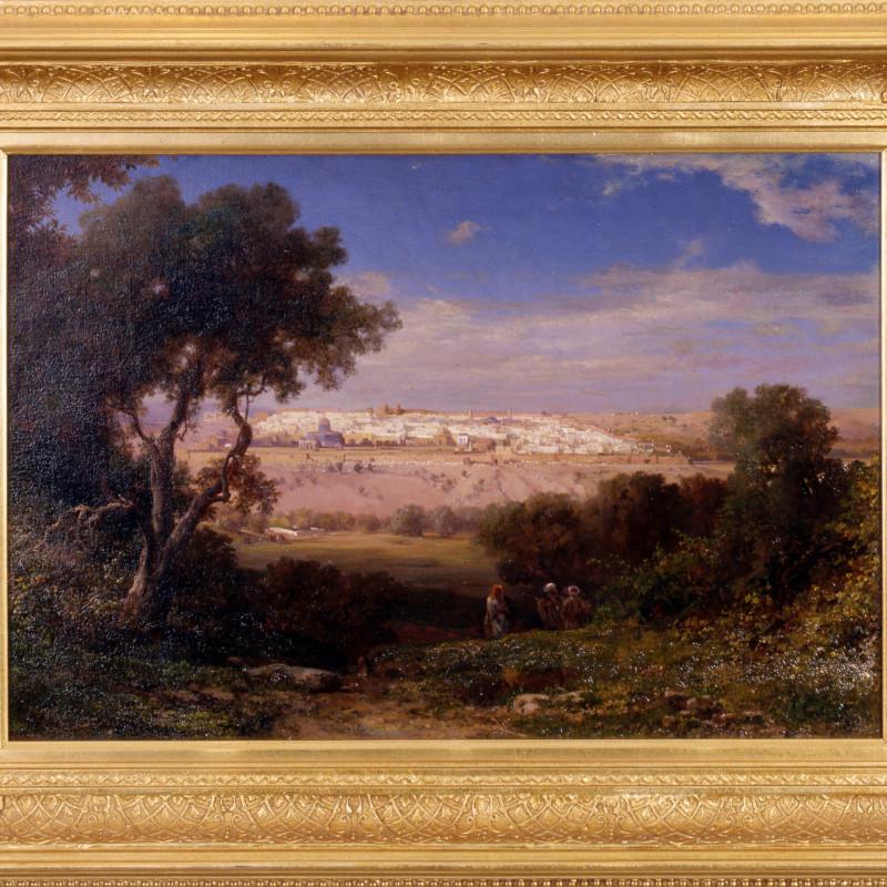 """Themistocles von Eckenbrecher (1842-1921) - """"Jerusalem"""" by Themistocles von Eckenbrecher"""