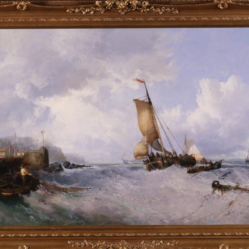"James Webb - ""Fishing off the Coast"" by James Webb, 1864"