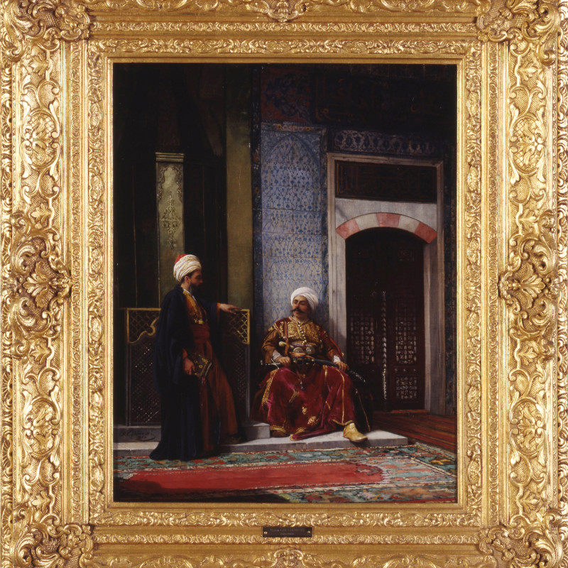 """Stanislaus von Chlebowski (1835-1884) - """"Waiting for the Pasha"""" by Stanislaus von Chlebowski, 1880"""