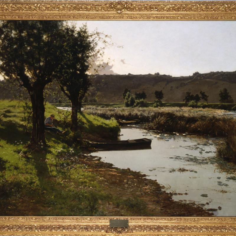 """Léon Boudot - """"A Summer's Day"""" by Léon Boudot, 1888"""