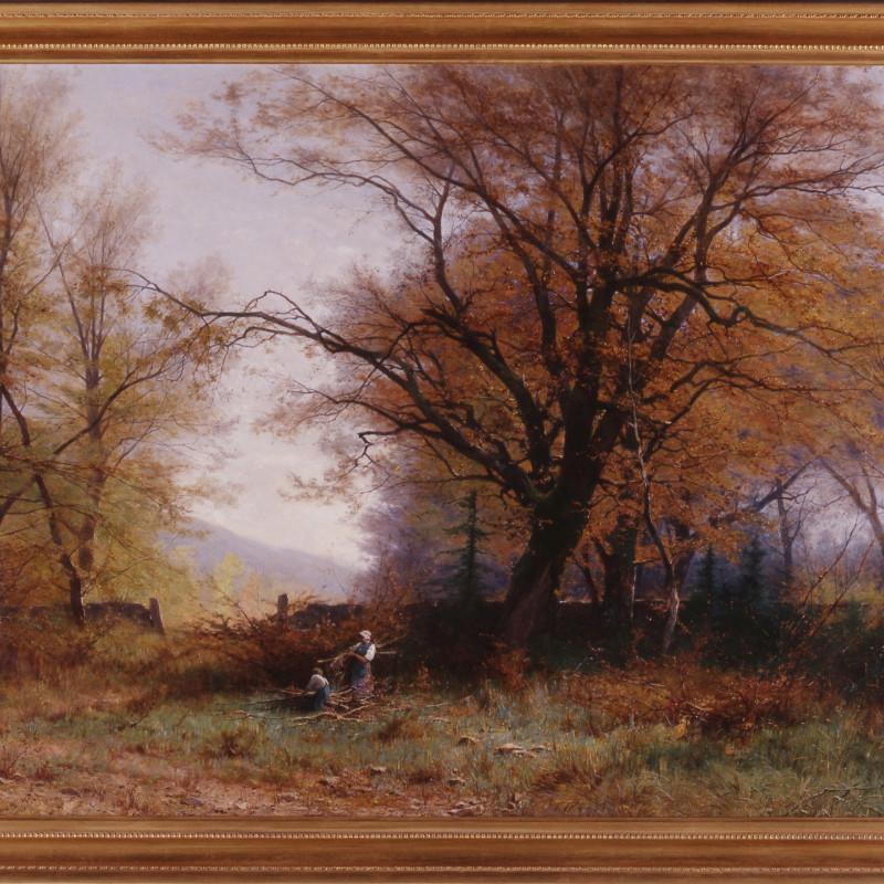 "Gustave Eugène Castan (1823-1892) - ""Gathering Wood"" by Gustave Eugène Castan"